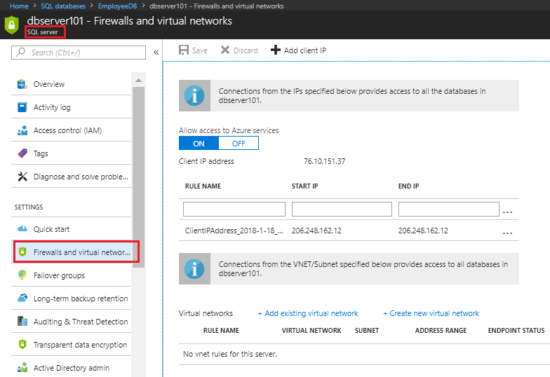 Demystifying Azure Security - Azure SQL Database - Set