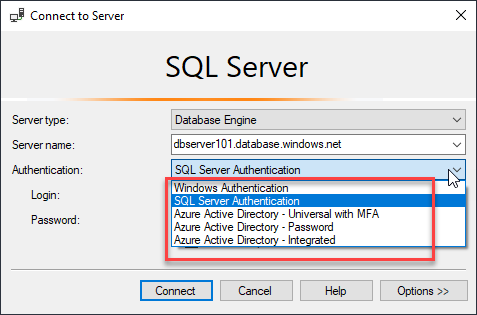 SSMS - Connect to SQL Server