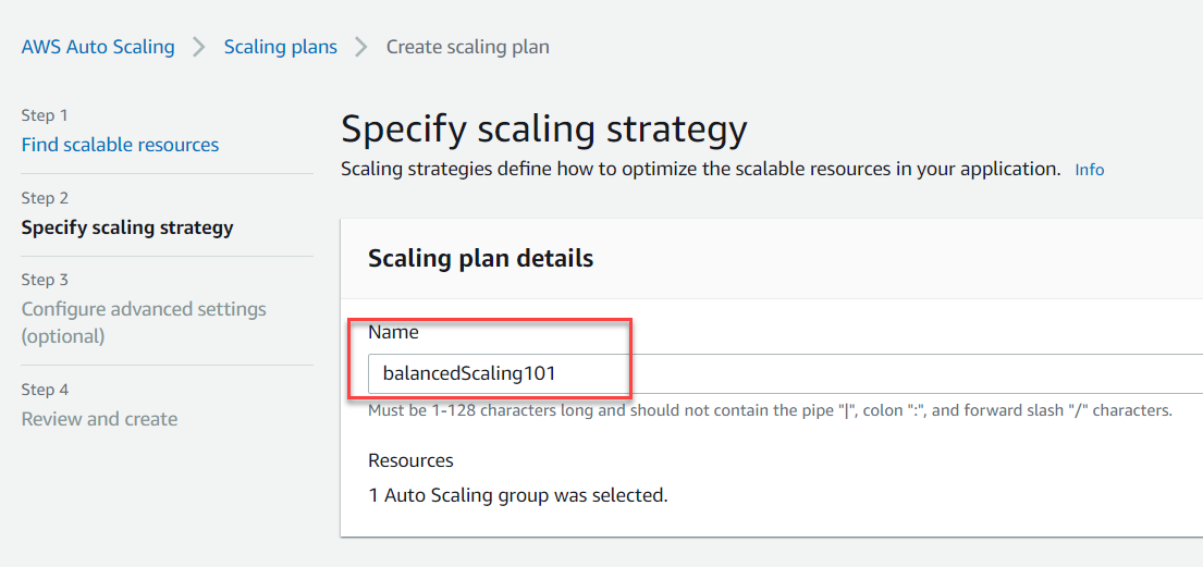 Specify Scaling Strategy